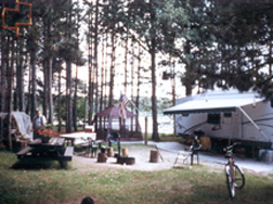 photo of the campground host site at mosomo campground